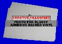 "5 Sheets 8.5"" X 11"" Inkjet Photo Pro Glossy Adhesive Backed Vinyl"