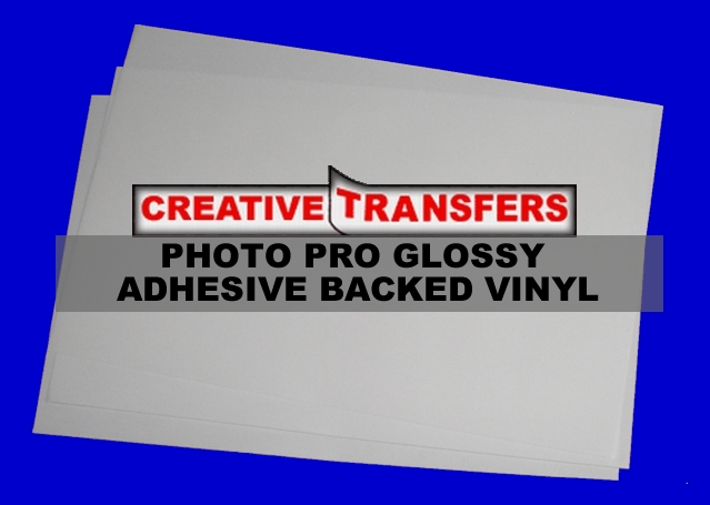 Photo Pro Glossy Adhesive Backed Vinyl Sheets, Great for making bumper stickers for boats, cars, etc.