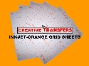 "Inkjet-Orange Grid  Heat Transfer Paper Sheets 11""X17"""