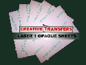 "Laser 1 Opaque  Heat Transfer Paper Dark Sheets 8.5"" x 11"" -10 Sheets"
