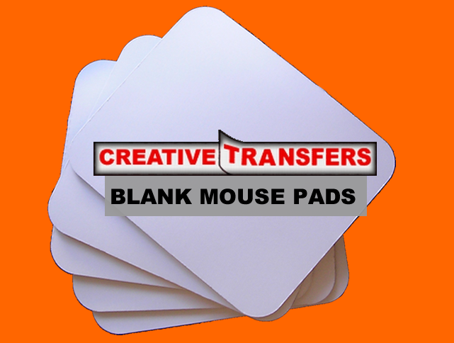 "MOUSE PADS Available in :1/4"" THICK (6MM) Blank Mouse Pads, & MOUSE PADS Available in :1/8"" THICK (3MM) Blank Mouse Pads 100% WHITE POLYESTER TOP W/ BLACK RUBBER BOTTOM.EASY TRANSFER VIA: INKJET—DYE-SUB---SILK SCREEN: PACK OF 12'S ONLY 1/4"" THICK (6MM)"