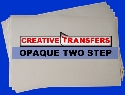 "25 Sheets  Opaque Two Step  Heat Transfer Paper  8.5""x 11"""