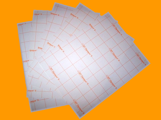 Inkjet-Orange Grid  Heat Transfer Paper Sheets