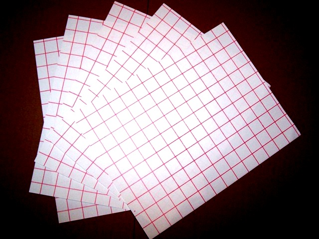 Inkjet Lite Red Grid Heat Transfer Paper Sheets 8 5 X 11