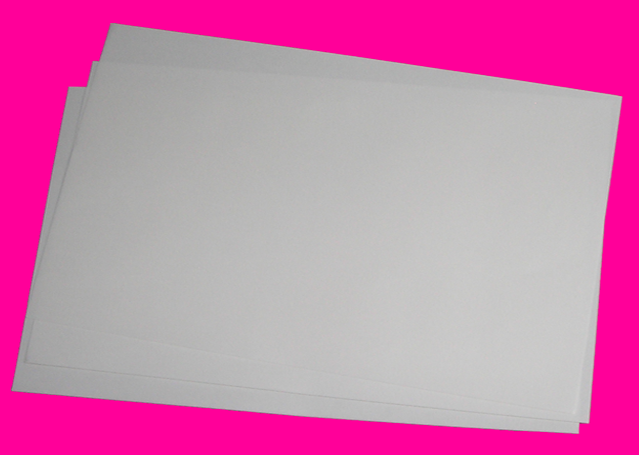 "Dazzle Trans: This paper when applied to your image will give you a shiny effect,works with all kinds of transfer papers, inkjet, clc and laser printer papers.Available in 12.5"" x 19"" only. Call for information.Call Us Toll Free: 800-721-5144 (Second-Step Finishing Sheet to Achieve Glossy Finish)*Please do not put these sheets in your printer!"