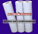 "3 Rolls Jet Pro Soft Stretch Transfer Paper Rolls 13""X100' Click here for more info"