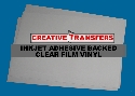 "50 Sheets Inkjet Adhesive Backed Clear Film Vinyl  11"" x 17"""