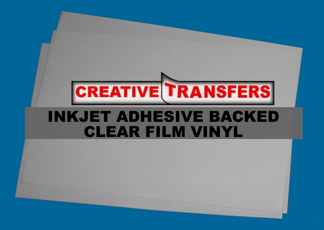 Inkjet Adhesive Backed Clear Film Vinyl Sheets, Will cut in GX-24 cutter, great for making stickers