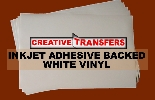 "Inkjet Adhesive Backed White Vinyl Sheets 11"" x 17"""