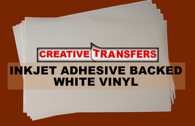 image regarding Printable Sticker Vinyl titled Inkjet Adhesive Subsidized White Vinyl 11\