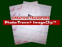 "Photo-Trans® ImageClip™ Laser Heat Transfer Paper Sheets 8.5""X11"" (5 Sheets )"