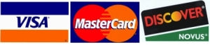 we accept visa, mastercard, discover, and paypal
